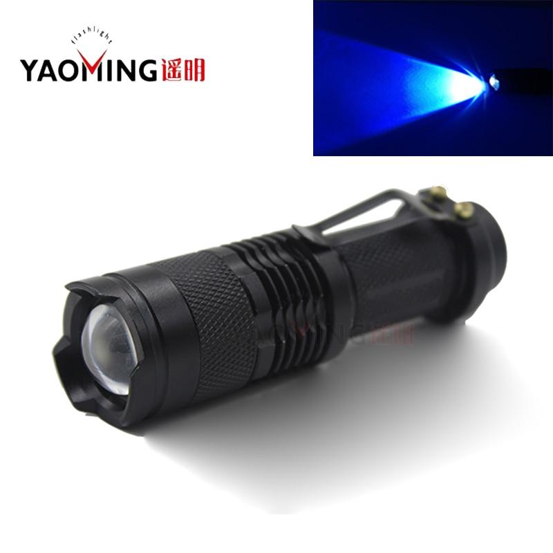 نور 350 نانومتری بنفش تمرکز CREE Q5 قابل - روشنایی قابل حمل