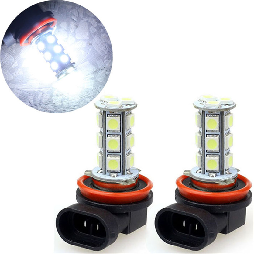 Franchise 2PC Waterproof H11 H8 18w Xenon 5050 SMD Car Day Fog Head Light Lamp Bulb Xenon White Boat Truck Lamp Light #0430
