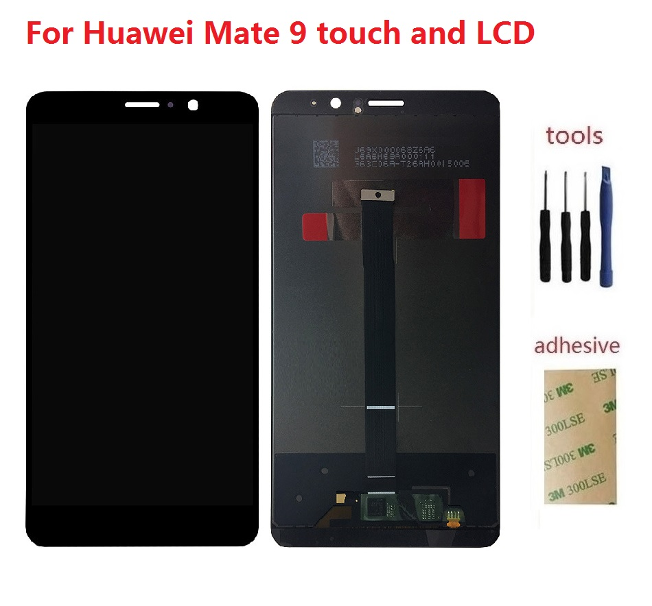 ФОТО For Huawei Mate 9 Mate9 MHA-L09 L29 LCD Display Screen + Front Touch Glass Digitizer Sensor Assembly + Adhesive + Kits