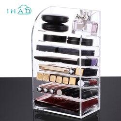 Multi-layer lipstick box Acrylic lipstick holder Makeup Organizer case Cosmetics storage box  Nail polish Display Stand rack