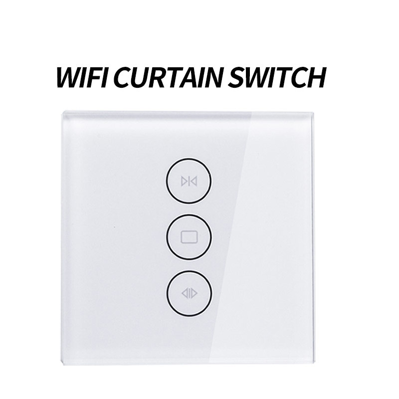 EU Wifi Touch Curtain Switch Wall Switch Voice Control By Alexa /Google  Phone Control For Electric Curtain Motor Smart Home