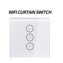 EU Wifi touch curtain switch wall voice control by Alexa /Google  phone For Electric motor smart home