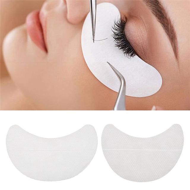 10 piezas de papel parches ojos de extensión de pestañas consejos etiqueta envuelve maquillaje 3T01335