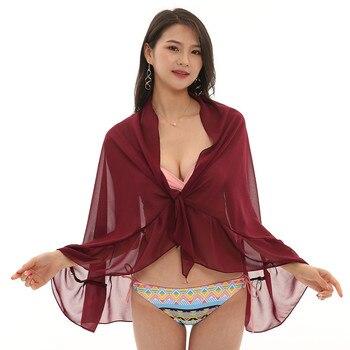 Women Chiffon Sunscreen Shawl Beach Bikini Swimwear Wrap Coverup Skirt Swimsuit Skirt Women Cute Sweet Girls Dance Skirt Юбка 8