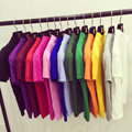 White short sleeve sweater female short sleeve pullovers spring 2016 new students all-match Korean slim half Turtleneck Shirt