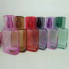 High Quality 25ml 1pcs/lot Glass Perfume Bottle Mini Multicolor Spray Bottle Refillable Empty bottle essential oil bottle