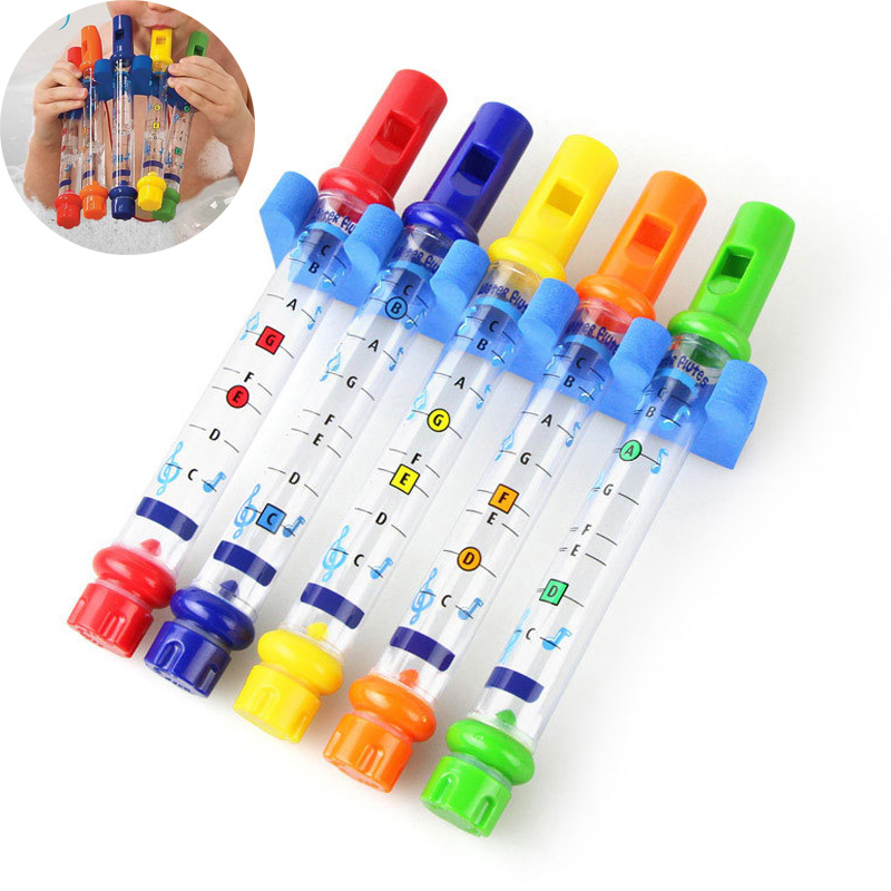 5pcs 1 Row Fun Music Sounds Bath Toy Children Kids