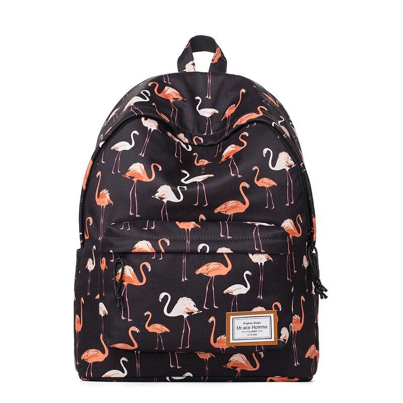 Brand backpacks women bags 2018 new fashion flamingo printing backpack for teenage girls laptop school bags Y237 1pc hight quality hot fashion unisex emoji backpacks 3d printing bags drawstring backpack nov 10
