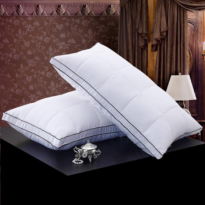 0ce5c8bae9 48*74 cm color blanco estilo pan rectángulo ganso/Duck Abrigos de plumas  Almohadas Abrigos de plumas de tela de algodón Ropa de cama suave Almohadas