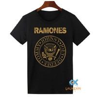 2016 Estate RAMONES T-Shirt Unisex Punk Rock Vintage Top Tee Shirts Divertente Hipster Harajuku Cotone Camiseta Per Le Donne Degli Uomini