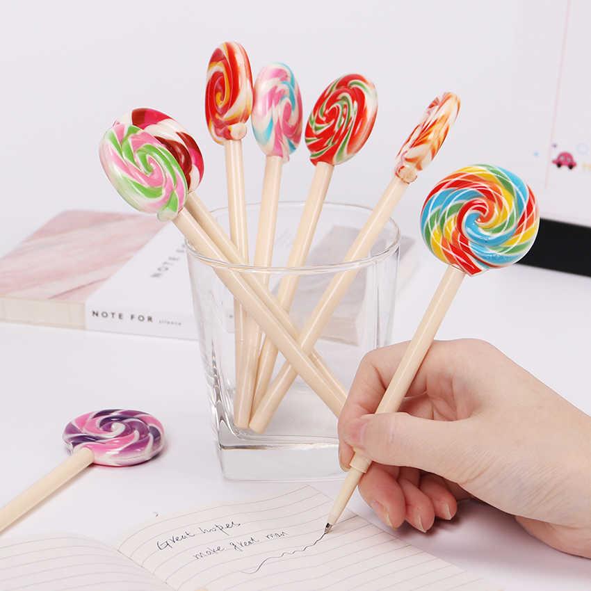 1 Pza lindo estilo caramelo bolígrafo piruleta Kawaii bolígrafo bolígrafos para la escuela papelería suministros de oficina