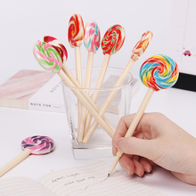 1PC Cute Candy Style Lollipop Ballpoint Pen Kawaii Ballpoint Pens for School Stationery Office Stationery Supplies 1 pcs beautiful feather pens ballpoint pen fashion accessories for writing school office supplies cute kawaii pen stationery