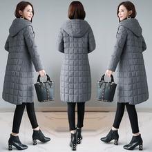 2019 women cotton coat winter hooded warm coat plus size cotton padded jacket female long parka womens wadded jaqueta feminina цены онлайн