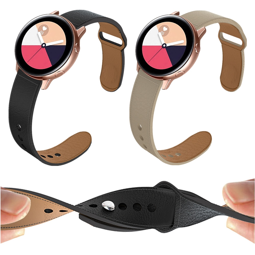20/22mm Leather Band For Samsung Gear S3/Galaxy Watch 42/46mm/Active Strap For HUAWEI WATCH GT For Garmin Vivoactive 3 Wristband
