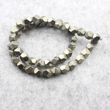 Natural Stone Iron Pyrite Round Loose Beads 7x8MM Sizes (Sell By Strand) HTK1005