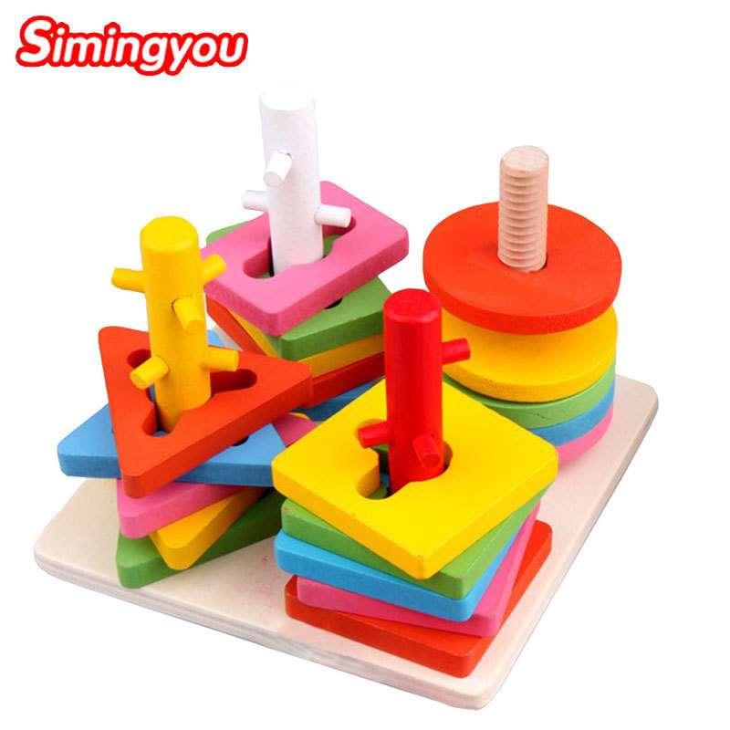 Toddler Learning Toys For 6 : Simingyou wooden geometric puzzle board kids educational