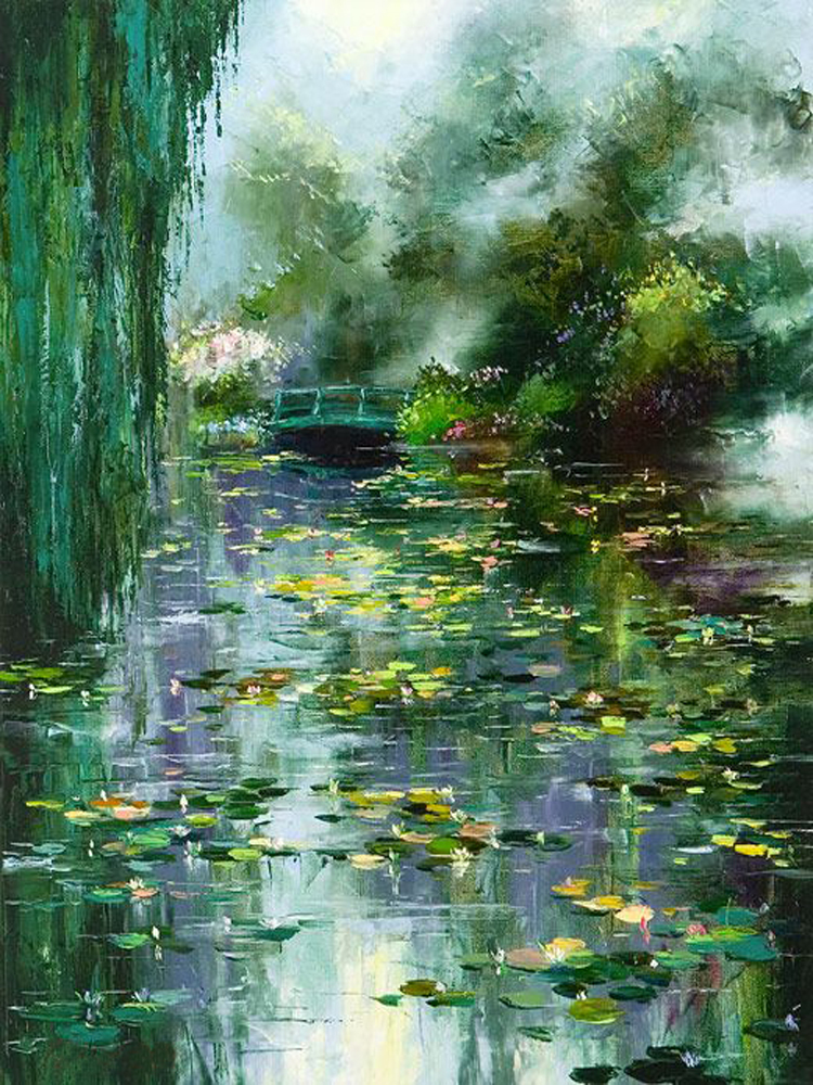 Online Buy Wholesale Pond Oil Painting From China Pond Oil