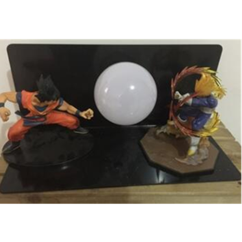5 Dragon Ball Z Youth Son Goku And King Vegeta With LED Light Table lamp PVC Action Figure Collectible Model Toy D438 dragon ball z sun goku master roshi pvc action figure collectible model toy 4pcs set 10 15cm free shipping page 1 page 4