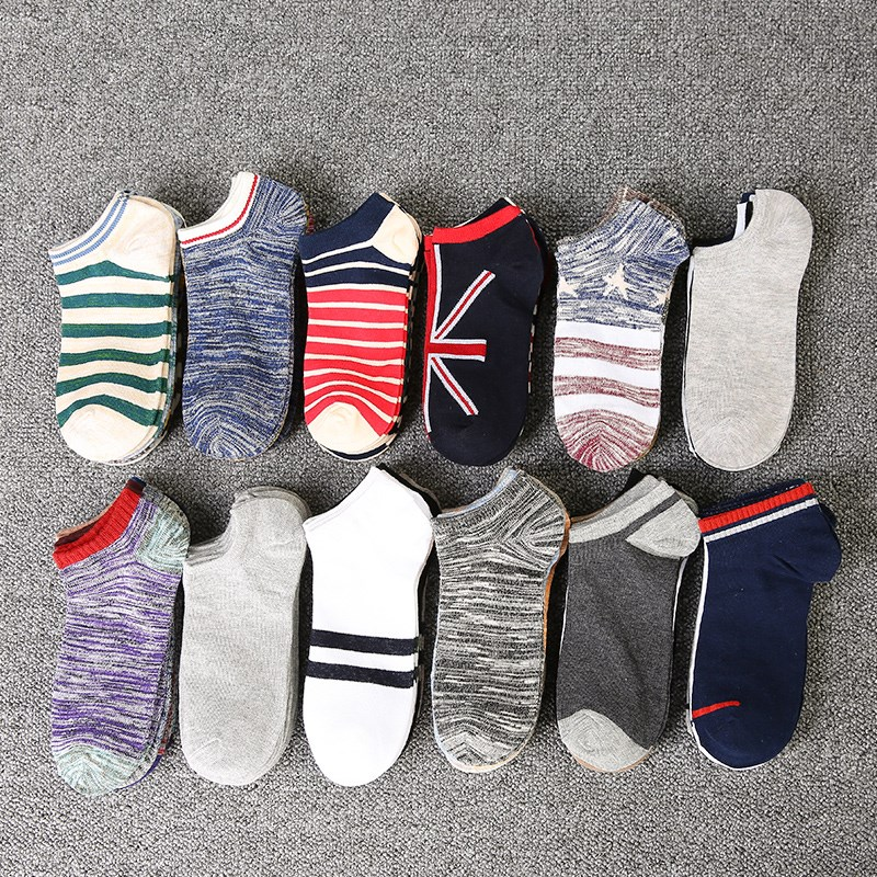 Hot Sale! Men's Socks Stripe Socks For Men Women Cotton Casual Spring Summer Autumn Short Fashion Male Sock 3WZ018