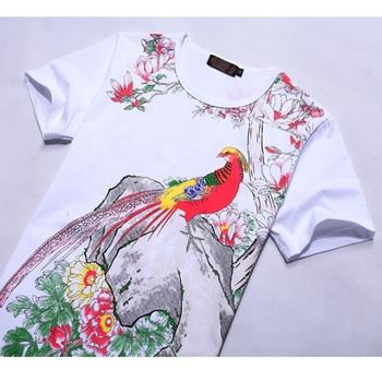 Plus Size 6XL Men's T-Shirt 2019 New Fashion Chinese Style Print T Shirt Men Summer Short-Sleeve Casual Slim Fit 3D Mens T Shirt 6