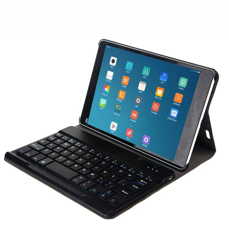 Can Add Other Letter Detachable Wireless Bluetooth Keyboard Stand PU Leather Case For Xiaomi Mi Pad 2 Mipad 2 2Gen 7.9 Tablet tablet protective case shell skin for xiaomi mi pad 1 mipad 1 pu leather stand tablet cover fundas mi a0101 case screen film pen
