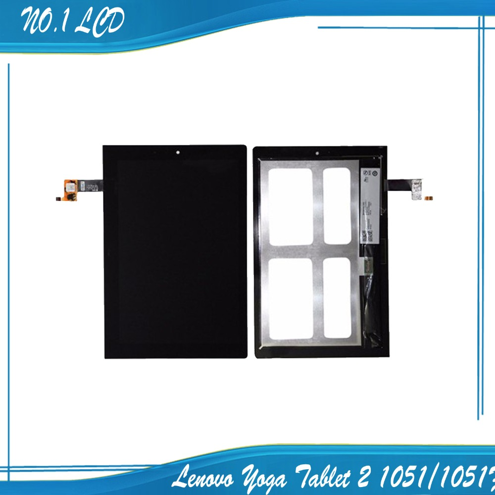 ФОТО Original For Lenovo Yoga Tablet 2 1051/1051F, LCD Display Screen(with touchscreen) replacement, Free tracking number