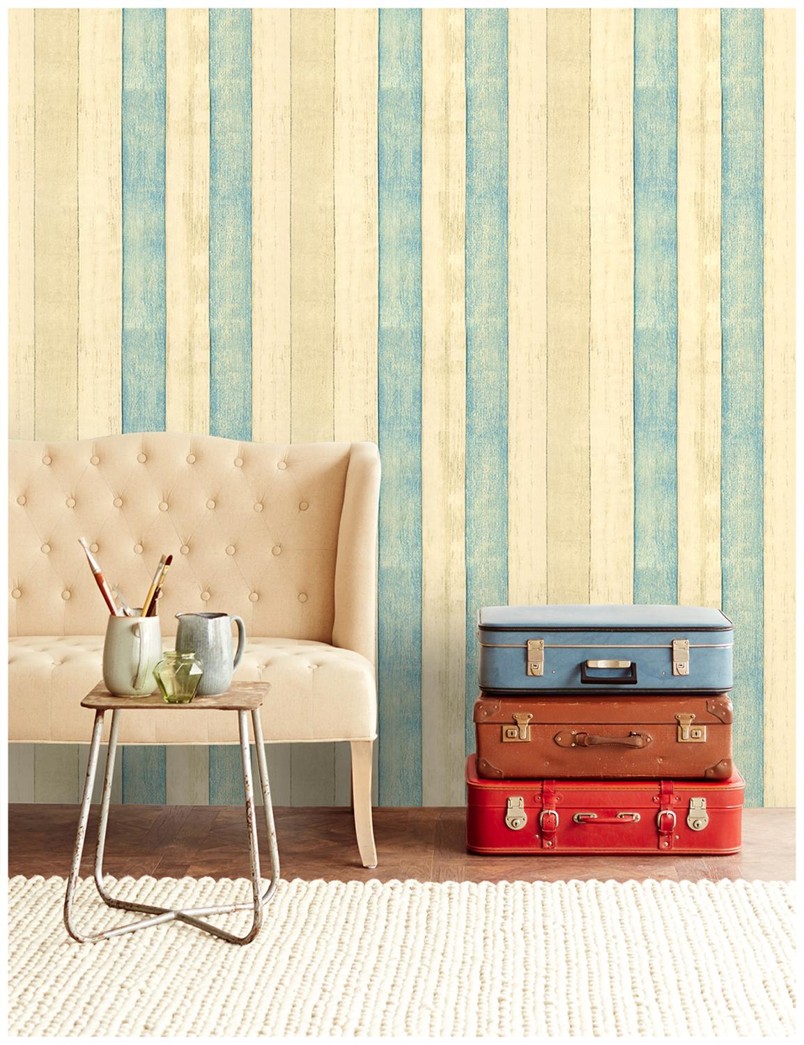 HaokHome Wood Plank Wallpaper self adhesive 0.45m*3m Vinyl Rolls Yellow/Blue For Living room Bathroom Kitchen home decorationHaokHome Wood Plank Wallpaper self adhesive 0.45m*3m Vinyl Rolls Yellow/Blue For Living room Bathroom Kitchen home decoration