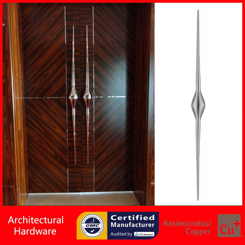 Luxurious Entrance Door Handle 304 Grade Stainless Steel Pull Handles PA-953-L2000mm For Glass/Wooden/Metal Doors 2000mm length square tube golden entrance door handle stainless steel pull handles for wooden metal glass doors pa 637