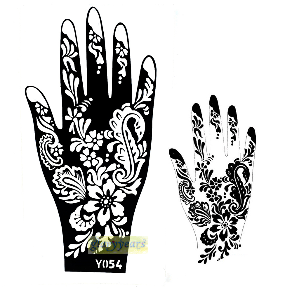 1pc new cones natural plants pigment indian flowers henna for Henna temporary tattoo stencils