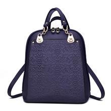 2017 дизайнерские элегантный дизайн в стиле ретро с цветочным принтом шаблон двойной плечо кожа студент школьная сумка рюкзак для подростков девочек