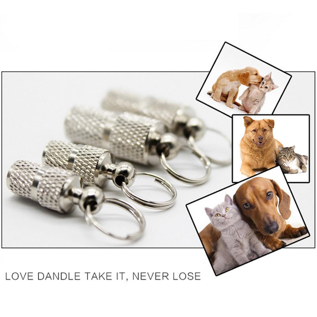 Hot sale Pet Dog Cat Mini ID TAG Anti lost Name Address Label Identity Barrel Tube Collar