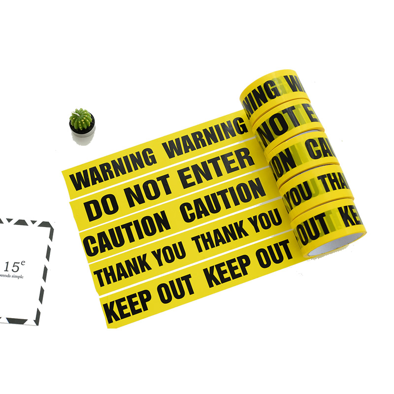 1-Roll DIY 48mm*25m Opp Warning Tapes Sticker Anti-Skid Caution Barrier  Safety Tapes For Home Store
