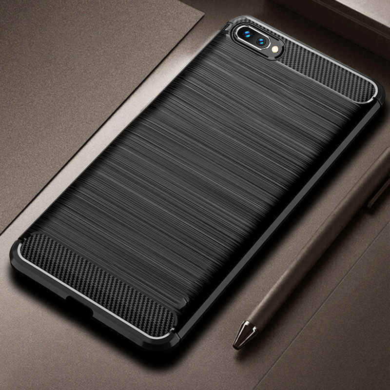 Case For Honor 10 Huawei Honor 10 Cover Shockproof Rugged Bumper For Honor10 Carbon Fiber Soft TPU Silicon Protector Case