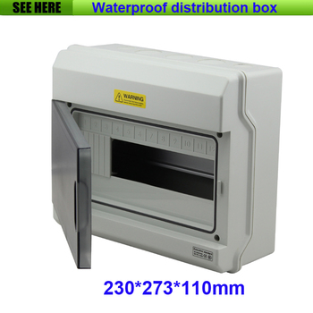 Free Shipping  IP66 12Ways Waterproof Distribution Box /Enclosures for Electronic Equipment MCB