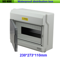 Free Shipping IP67 12Ways Waterproof Distribution Box Enclosures For Electronic Equipment MCB