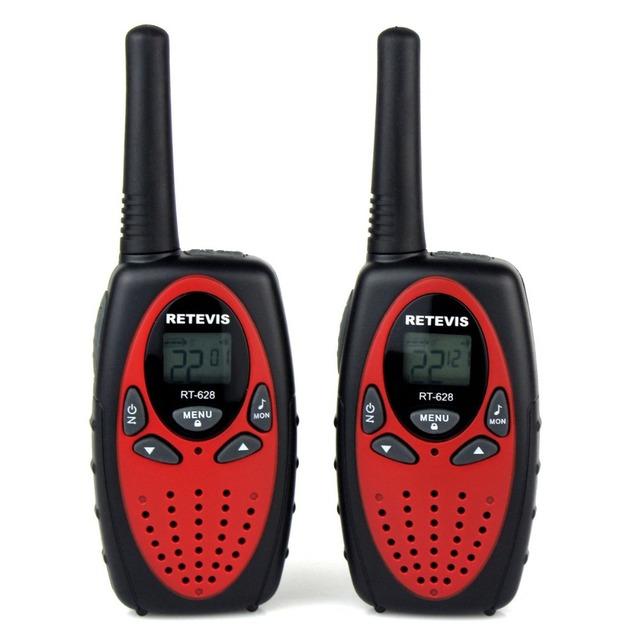 2 pcs retevis rt628 0.5 w 22ch walkie talkie rádio crianças nos freqüência uhf 462-467 mhz portátil de duas maneira de rádio portátil a1026c