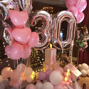 2pcs 40 inch Rose Gold Number Foil Helium Balloons 18 20 21 30 50 years old Digit Air Balls Adult Birthday Party Decor Supplies