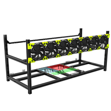 8 GPU Graphics card Aluminum  alloy mine frame Stackable Open Air Miner Mining rig Mining Case Miner rack Frame Rig 1pc