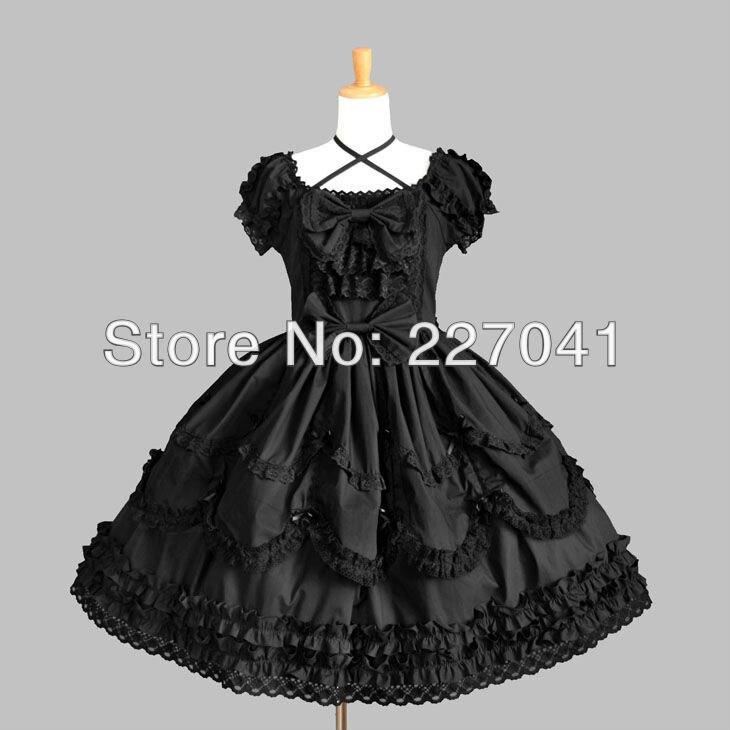gothic lolita anime clothes halloween black cosplay