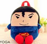Gift For Baby 1pc 23cm Cartoon Little Hero Superman High Quality Children Plush Backpacks Satchel Shoulder