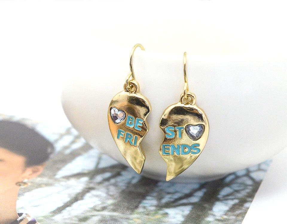 LEIIY 4 Colors Heart Drop Earrings For Women Multicolored Metal ... da6c278cee23