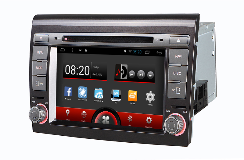 For Fiat Bravo Car DVD Player GPS Navigation System Autoradio for Fiat Punto Radio 2007-2012 with android 5.1.1 System