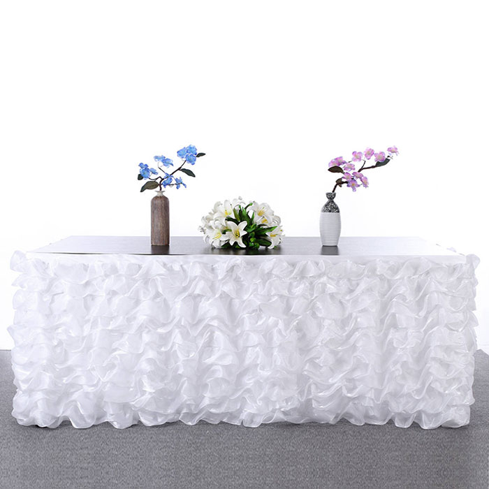 Multi Layers 275x76cm Tulle Table Skirt Wedding Banquet Birthday Tutu Table Skirt Tulle Tableware Jupe De