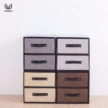 luluhut linen storage drawers new design washable box cloth bra socks organizer underwear finishing drawer