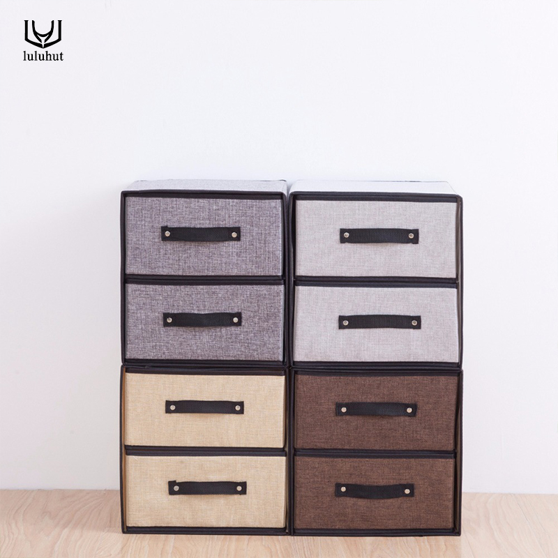 luluhut linen storage <font><b>drawers</b></font> new design washable storage box cloth bra socks organizer underwear finishing box <font><b>drawer</b></font> organizer