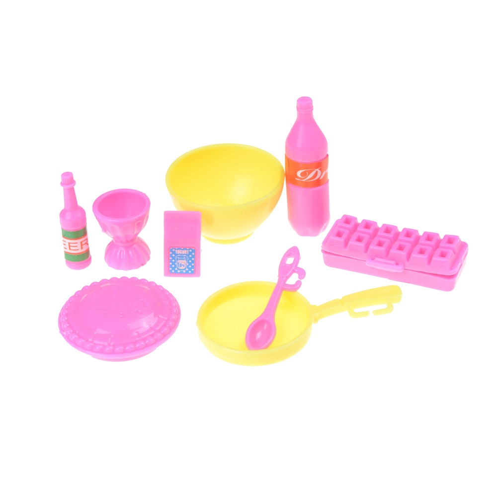 Plastic food cake cup bottle Kitchen kit For Barbie doll for kelly ...