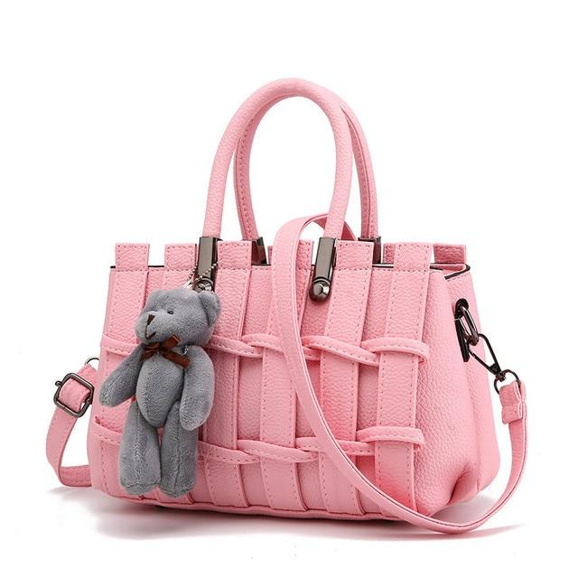 をモネcauthy女性のバッグ簡潔な甘い女性レジャーファッションクロスボディトートバッグ無地ラベンダーピンクグレーブラックホワイトハンドバッグ