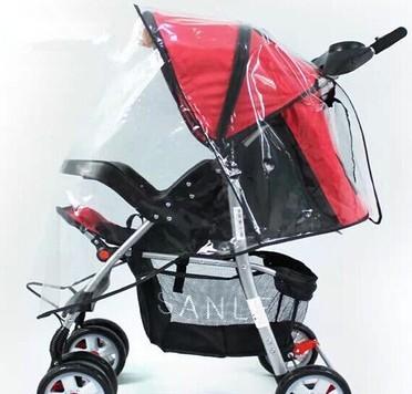 Correo del paquete cubierta para la lluvia cochecito carritos paraguas capó del coche protector de viento cubierta cochecitos de bebé del parabrisas poncho