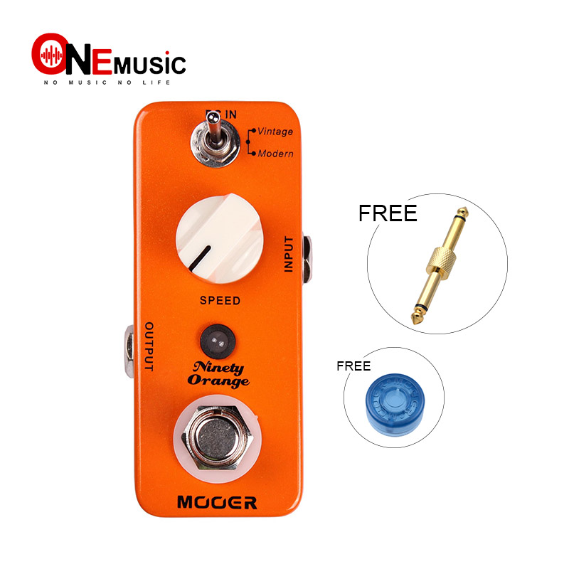 MOOER Micro Ninety Orange Phaser Effect Guitar Compact Pedal Vintage Modern True bypas with Pedal Connector