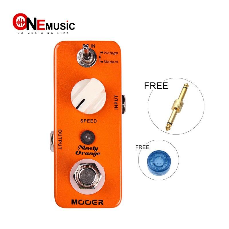 MOOER Micro quatre-vingt-dix Orange effet Phaser guitare compacte pédale Vintage moderne vrai bypas avec connecteur de pédale